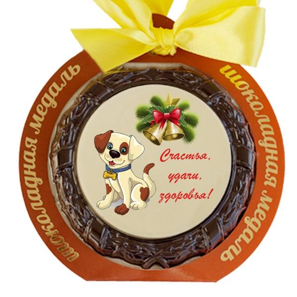 Шоколадные медали к новому году